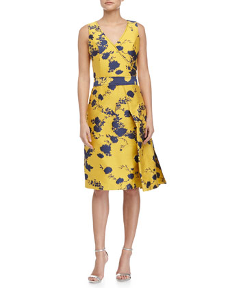 Faux-Wrap A-Line Dress, Honeysuckle
