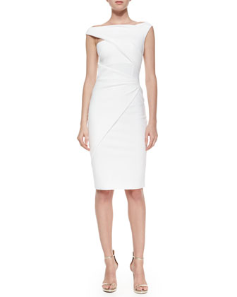 Silvietta Asymmetric Body-Conscious Cocktail Dress