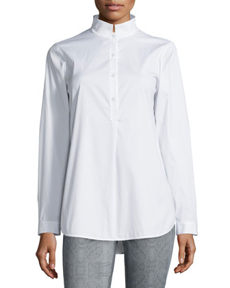 Dawson Long-Sleeve Blouse & Snakeskin-Print Slim Jeans