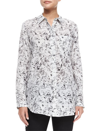 Babette Long-Sleeve Floral-Print Blouse