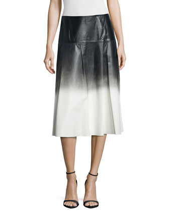 Jessa Ombre Leather Skirt