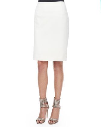 Hazelle Pleated Peplum Top & Shilah Pencil Skirt