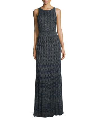 Sleeveless Lurex?? Maxi Dress