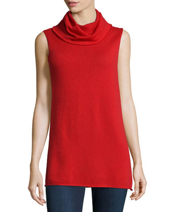 Cashmere Sleeveless Cowl Sweater