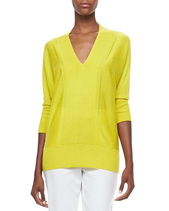 V-Neck 3/4-Sleeve Sweater