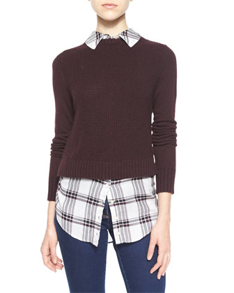 Mohawk Layered Sweater, Bordeaux