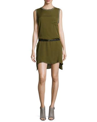 Muscle-Tee Shirtdress, Dark Military