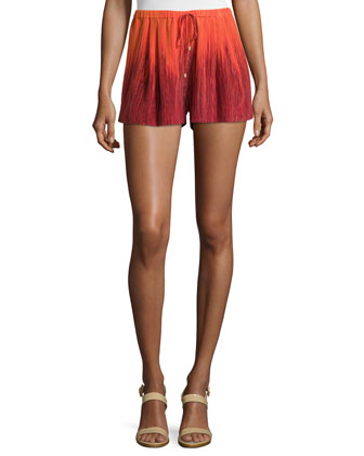 Summer Ombre Shorts, Orange Multi