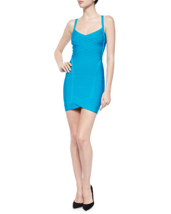 Crisscross V-Neck Bandage Dress