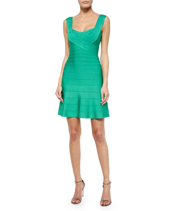 Sweetheart Crisscross Bandage Dress