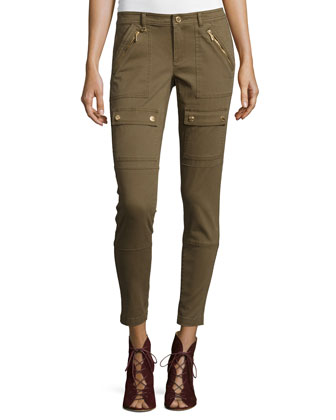 Canvas Skinny Cargo Pants