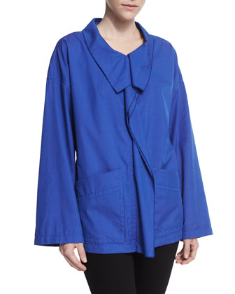 Long-Sleeve Oversize Jacket, Pacific