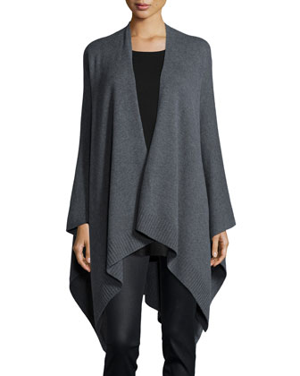 Cozy Luxe Poncho/Cardigan, Silk Jersey Long-Sleeve Tunic & Coated Stretch ...