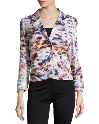 Double-Button Printed Jacket, Fantasy