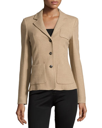 Triple-Button Front Blazer, Brass