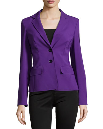 Double-Button Front Blazer, Iris