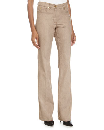 High-Rise Boot-Cut Jeans, Savannah