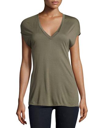 Short-Sleeve Tee W/Multi-Chain Back, Military