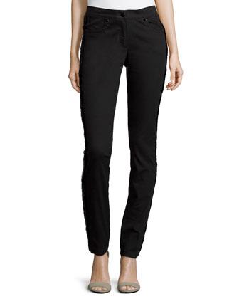 Low-Rise Narrow-Leg Jeans, Black