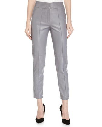 High-Waist Narrow-Leg Pants, Graphite