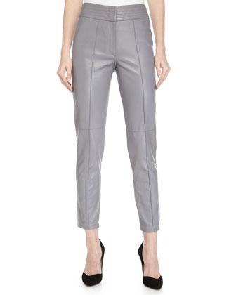 High-Waist Narrow-Leg Pants, Graphite