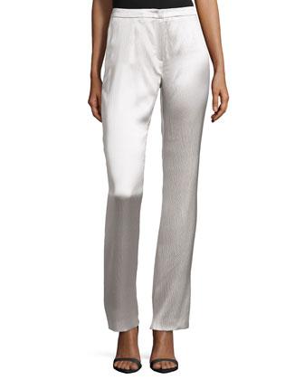 Low-Rise Boot-Cut Pants, Glass