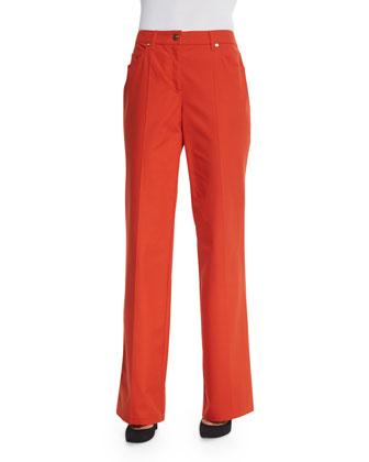 Mid-Rise Straight-Leg Trousers, Koi
