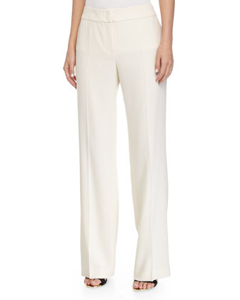 Tanja Classic Stretch Wool Pants, White