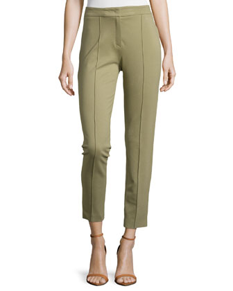Mid-Rise Center-Seam Pants, Cactus