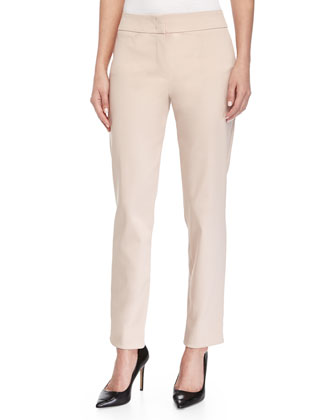 Tapered-Leg Cropped Pants, Carnation
