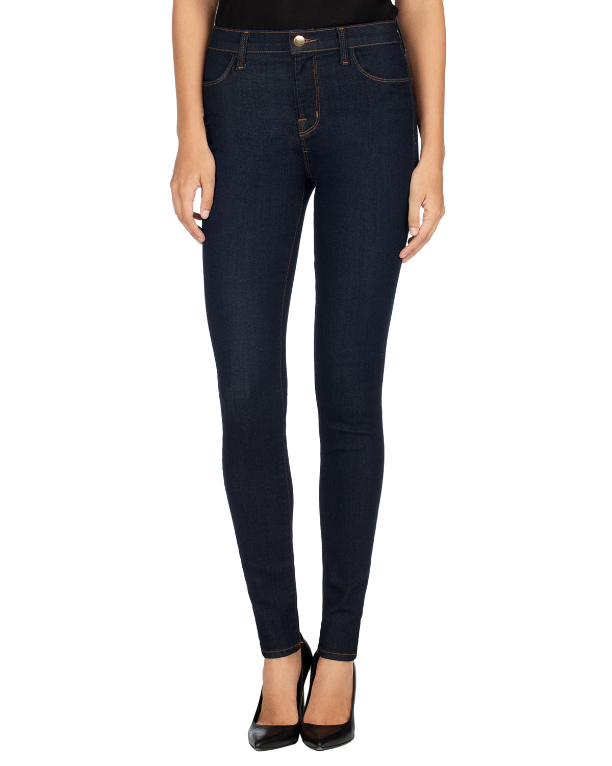 Maria High-Rise Super-Skinny Jeans, After Dark, Size: 24 - J Brand Jeans
