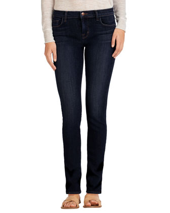Skinny Mid-Rise Rail Jeans, Oblivion