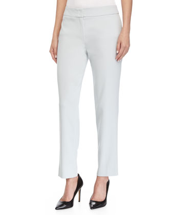 Tapered-Leg Cropped Pants, Opal
