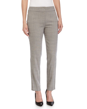 Tapered-Leg Cropped Pants, Shadow