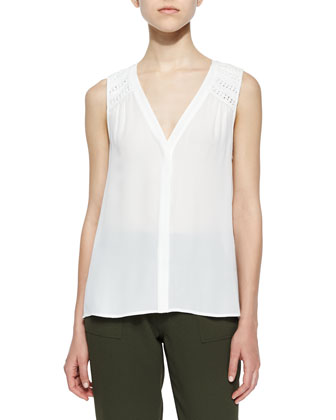 Doria V-Neck Sleeveless Top & Diara Jersey Slouch Pants