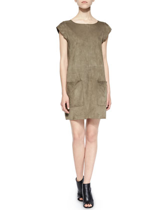 Maroone Suede Dress
