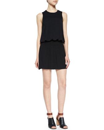 Ashira Heathered Blouson Dress