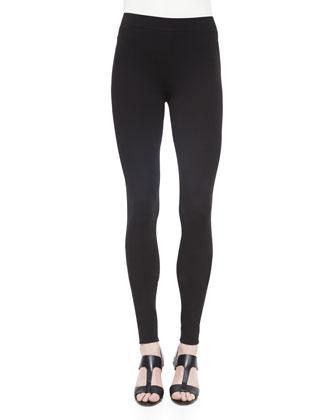 Ponte Full-Length Leggings, Black