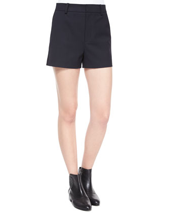 Deluxe Wool-Blend Shorts
