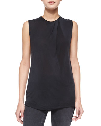 Then Spray Sleeveless Top