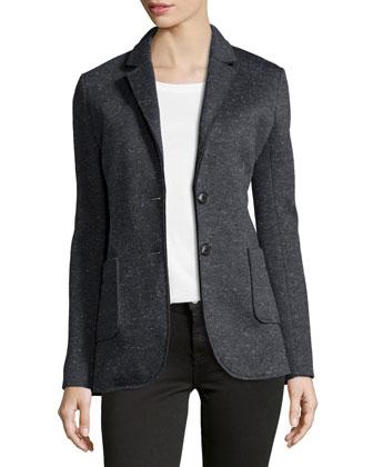 Bonded Knit Speckled Blazer