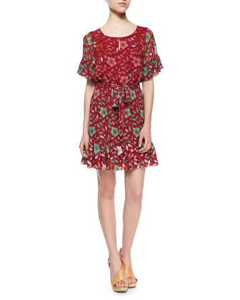 Jane Degrade Daisy-Print Dress