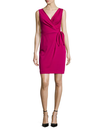Sleeveless Bella Wrap Dress, Raspberry Coulis