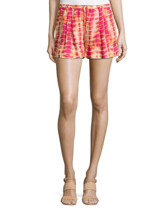 Tie-Dye Summer Shorts, Dragon Fruit Multi