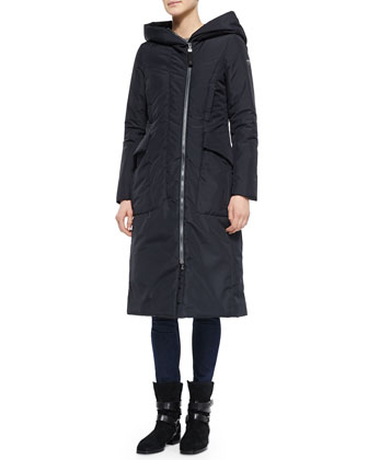 Acrab Long Hooded Canvas Coat