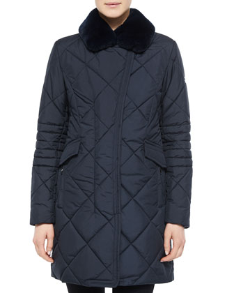 Dubhe Fur-Collar Coat