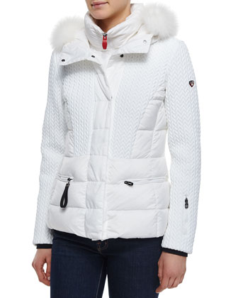 Alake BMAT Quilted Down Jacket W/ Fur-Hood