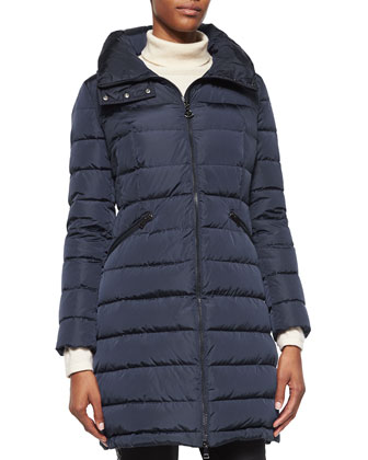 Flammette High-Neck Puffer Coat