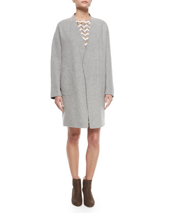 Singer Bemberg?? Cupro Coat, Light Gray