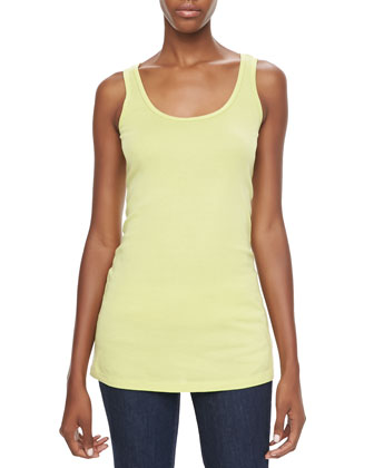 Kensington Lace/Voile Top & Thin-Strap Cotton Tank, Women's